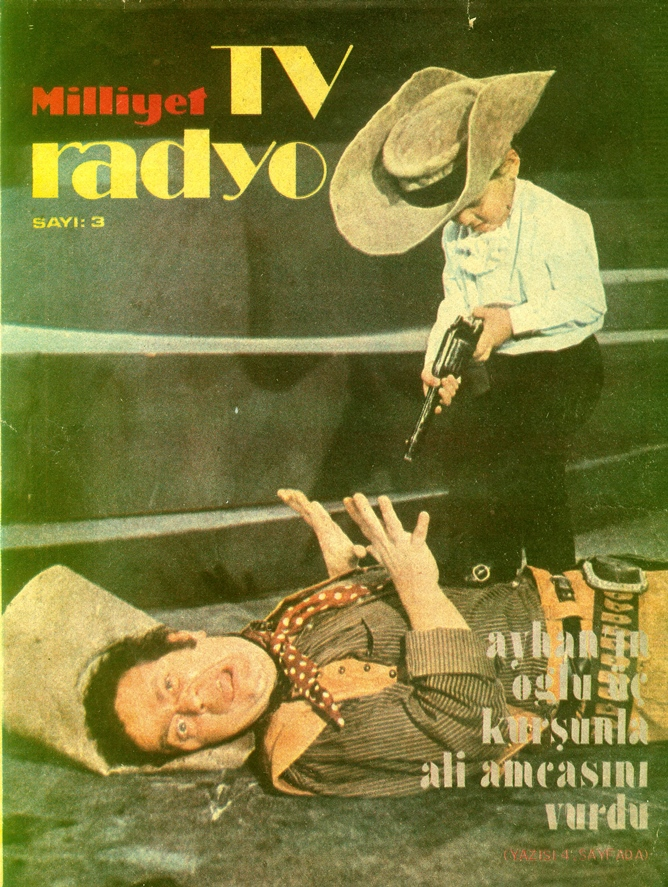 On the cover of Milliyet TV & Radio Magazine, 1972