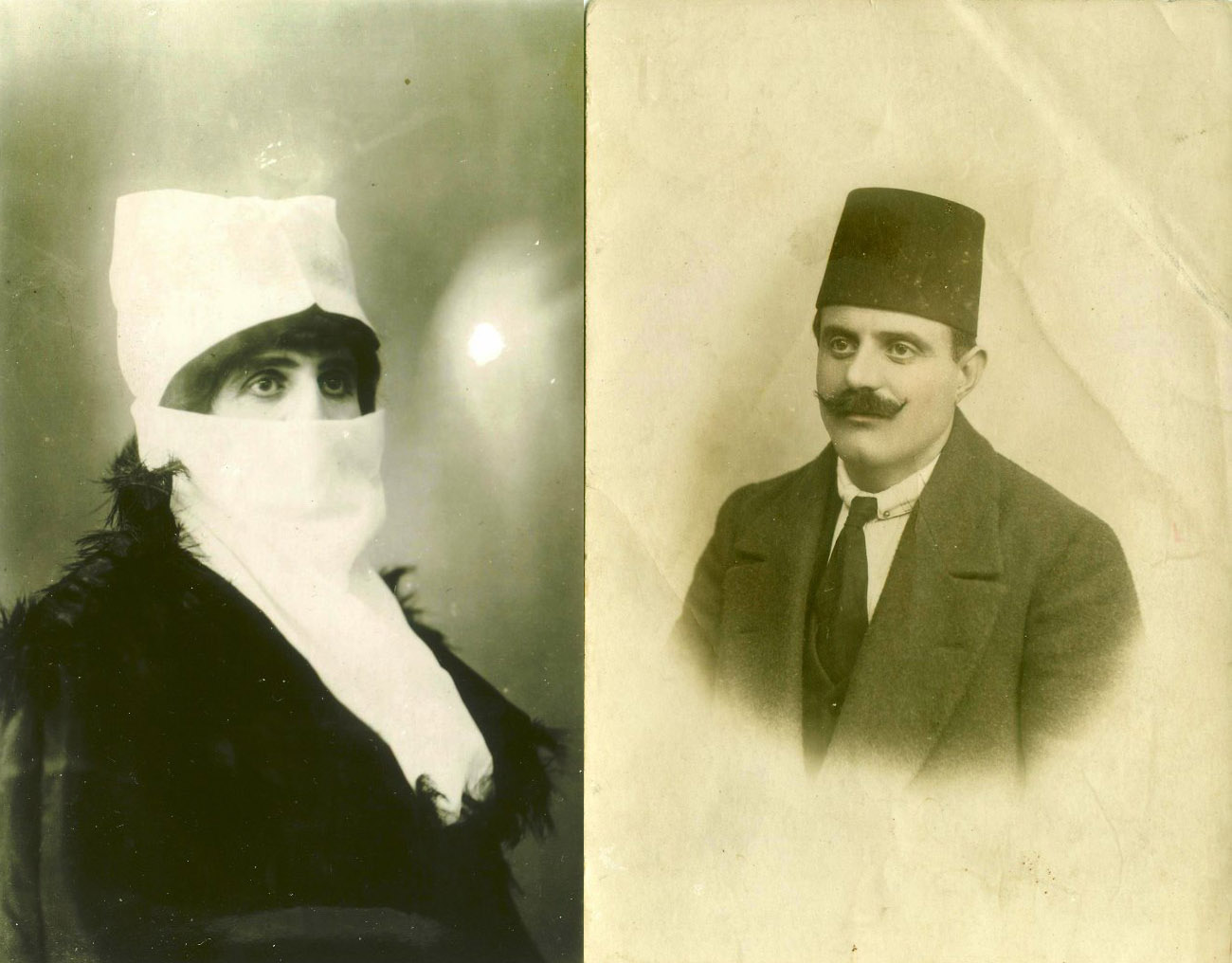 Cevdet Bey as Zenne and as himself in 1919, Istanbul